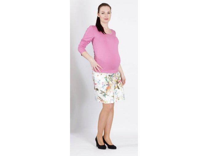 Těhotenské tričko RIALTO RUTEN růžové 0360 (Dámská velikost 46)