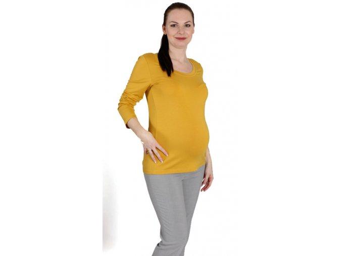 Těhotenské tričko RIALTO RUTEN žluté 0423 (Dámská velikost 46)