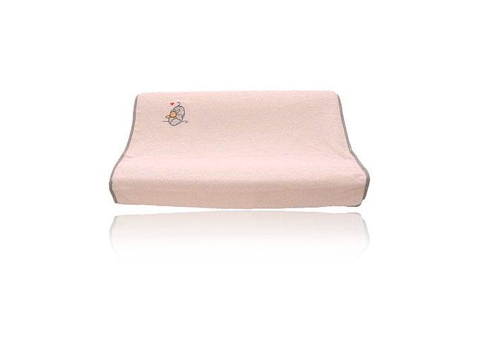 Froté návlek na malú podložku Bébé-Jou Humphrey Ružový