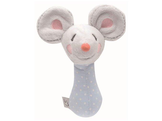Plyšová hrkálka Bébé-Jou Myška Little Mice