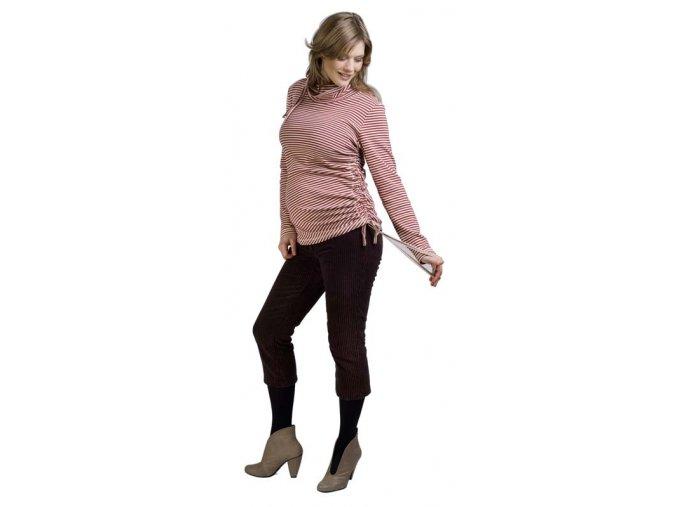 3/4 tehotenské menčestrové nohavice.