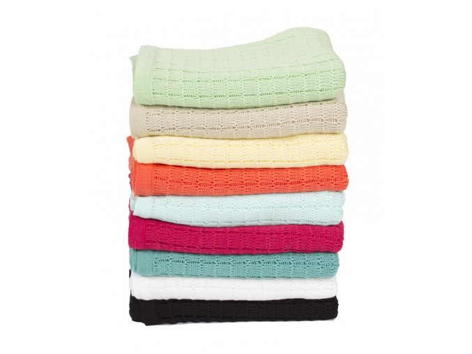 Pletená deka Rialto Baby (Barva žlutá)