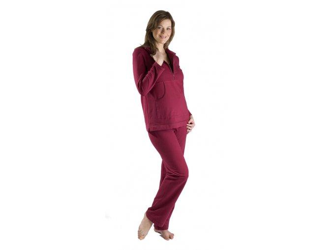 Těhotenská mikina. Bavlněná mikina, které využijete během i po těhotenství.