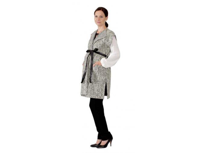 Těhotenská nebo dámská vesta v oblíbeném oversize stylu.