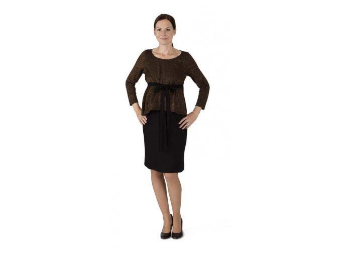 Společenské těhotenské a kojící šaty s dlouhým rukávem.