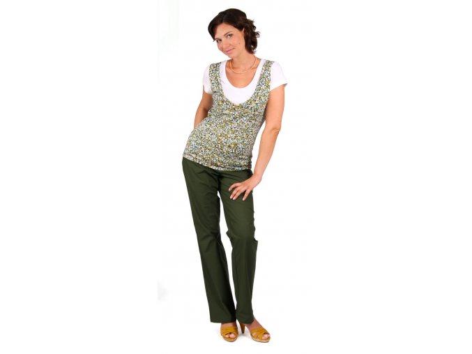 Těhotenské a kojící tričko RIALTO DOMMERY tyrkysový puntík 0258 (Dámská velikost 48)