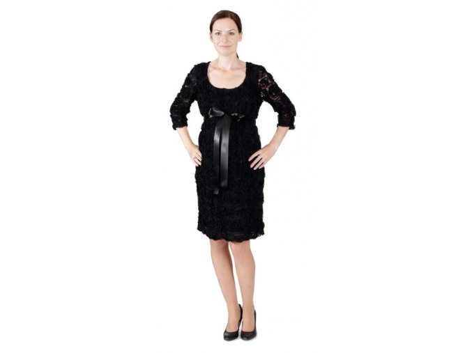 Velmi pohodlné těhotenské šaty Rialto s kulatým výstřihem.