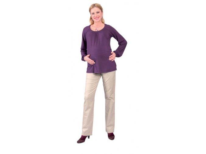 Těhotenské tričko Rialto Rance fialová 0271 (Dámská velikost 46)