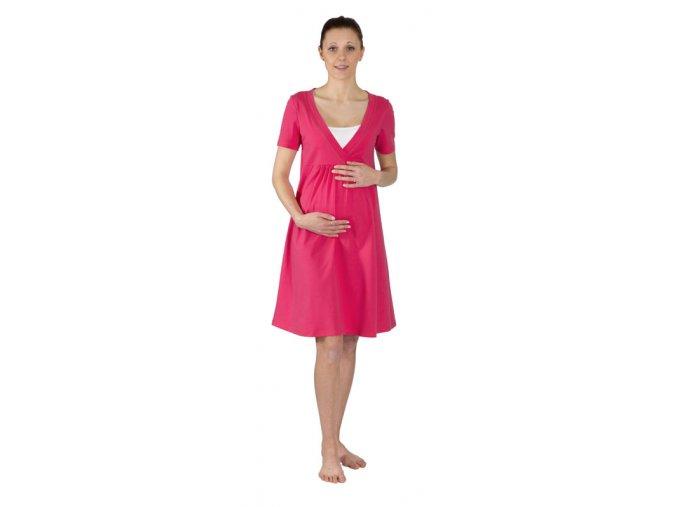 Tehotenská nočná košeľa na dojčenie Rialto Gloyl tmavo ružová 0269