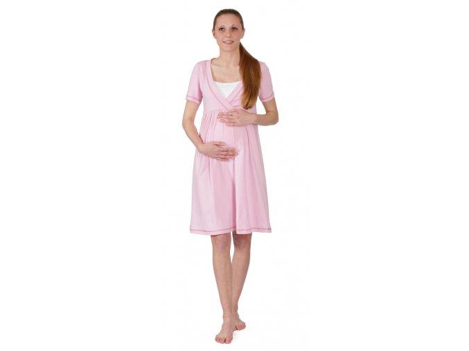 Tehotenská nočná košeľa na dojčenie Rialto Gloyl ružová 0251