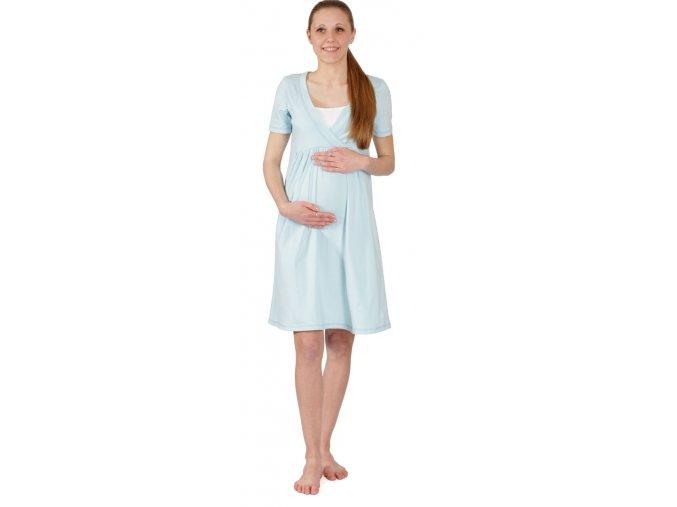 Tehotenská nočná košeľa na dojčenie Rialto Gloyl Svetlo Modra 0252
