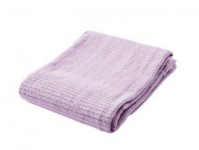 Detská háčkovaná bavlnená deka Babydan Lila