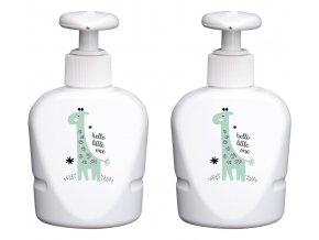 Dva dávkovače gelu a šampónu Bébé-Jou Hello Little One