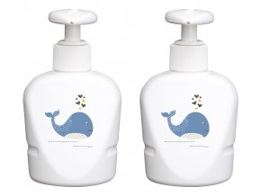 Dávkovač na mýdlo nebo šampon s velrybou
