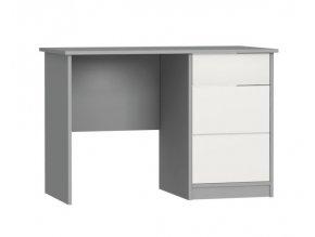 Dětský psací stůl odstíny šedé vysoký lesk ALDA