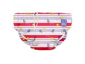 proužkované kojenecké plavky swim nappy anchors away