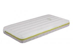 Matrace do postýlky 120 x 60 cm s taštičkovými pružinami a paměťovou pěnou vysoká 13 cm DORY