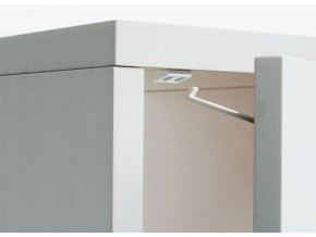 Otočná poistka pre dvere zásuviek a skriniek, 4ks