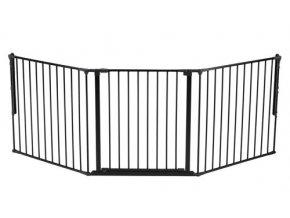 Černá prostorová zábrana OLAF 90-225 cm
