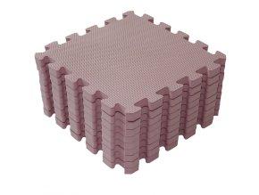 Růžové pěnové puzzle do dětského pokojíčku 1000 41 Foam mat by BabyDan
