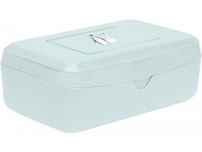 box na uchování vlhčených ubrousků v mentolové s tučnáčkem