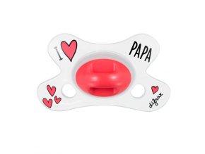 Cumlík Difrax anatomický - I LOVE PAPA 0+