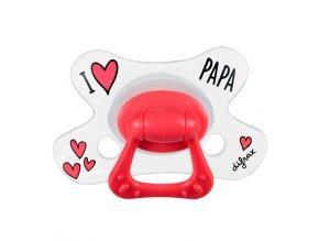 Cumlík Difrax Anatomický I LOVE PAPA 6+