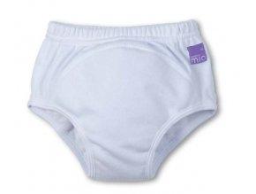 Učiace plienkové nohavičky 2-3 roky biela