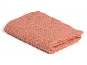 Pletená deka bavlna, Ružová, Romantik, Rialto Baby