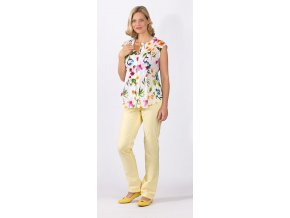Těhotenská a kojící halenka RIALTO PIER-T barevné květy 0306 (Dámská velikost 46)