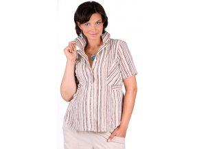 Těhotenská halenka RIALTO ORMOY hnědé pruhy 0261 (Dámská velikost 44)