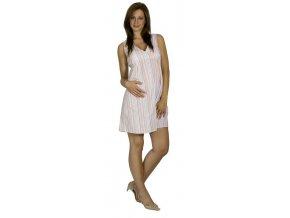 Těhotenské šaty RIALTO LINTGEN bílá s proužky 5952 (Dámská velikost 44)