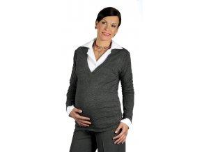 Velmi pohodlný těhotenský svetr ze směsové pleteniny.