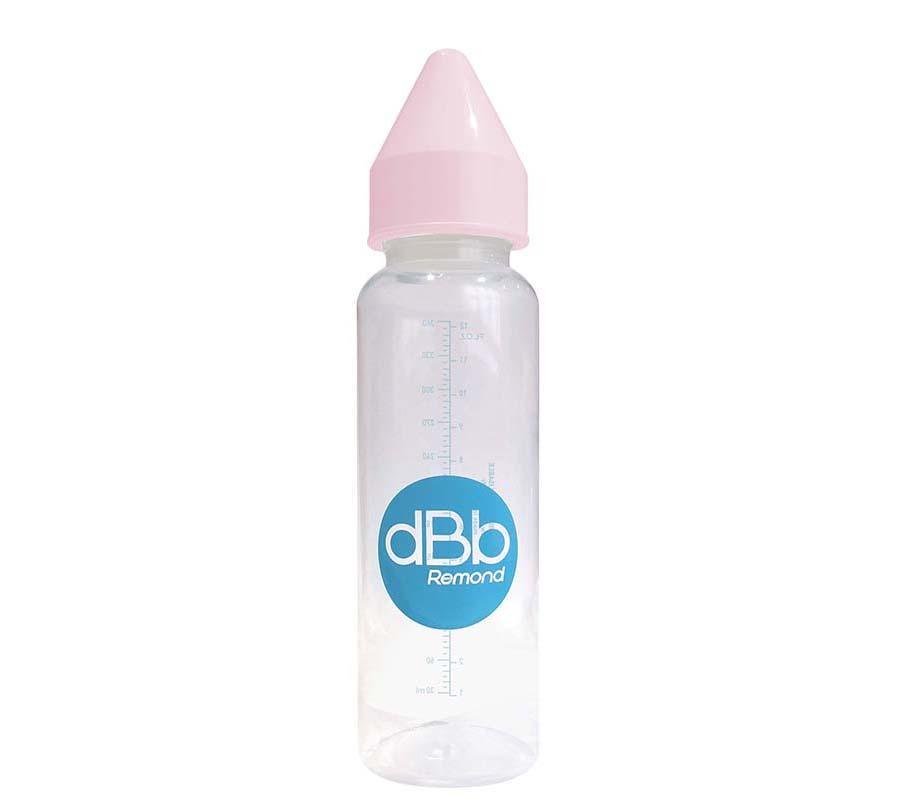 dBb Remond Dbb Detská fľaša PP 360 Ml, Cumlík 4+ mesiace, Kaučuk, Pink