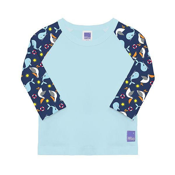 Bambino Mio Detské tričko do Vody s rukávom, Uv 50+, Nautical, Veľ. L