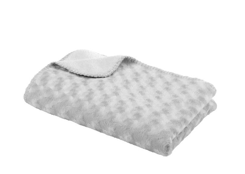 Baby Dan Detská deka double fleece obojstranná 75 × 100 Grey
