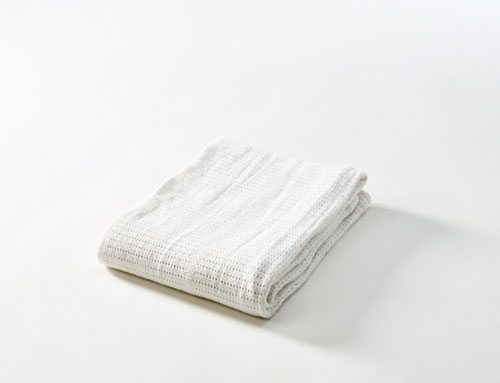 Baby Dan Detská háčkovaná bavlnená deka Babydan Biela