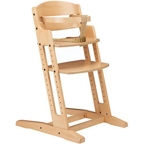 Baby Dan A/S Drevená jedálenská stolička Babydan Danchair Natur