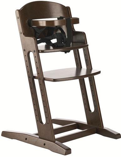 Baby Dan Drevená jedálenská stolička Babydan Danchair Walnut