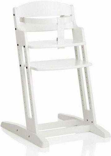 Baby Dan Drevená jedálenská stolička Babydan Danchair White