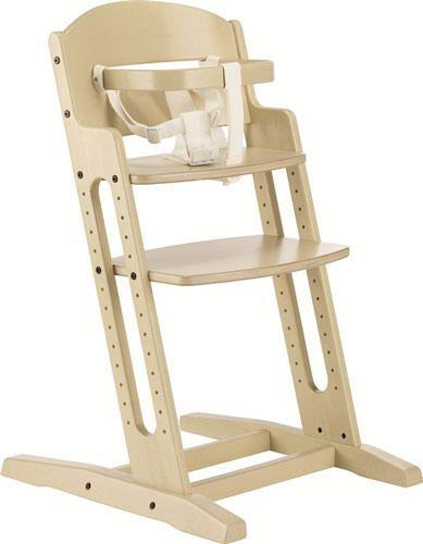 Baby Dan Drevená jedálenská stolička Babydan Danchair White Wash