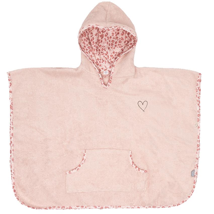 Bebe-Jou Froté pončo Bébé-Jou Leopard Pink