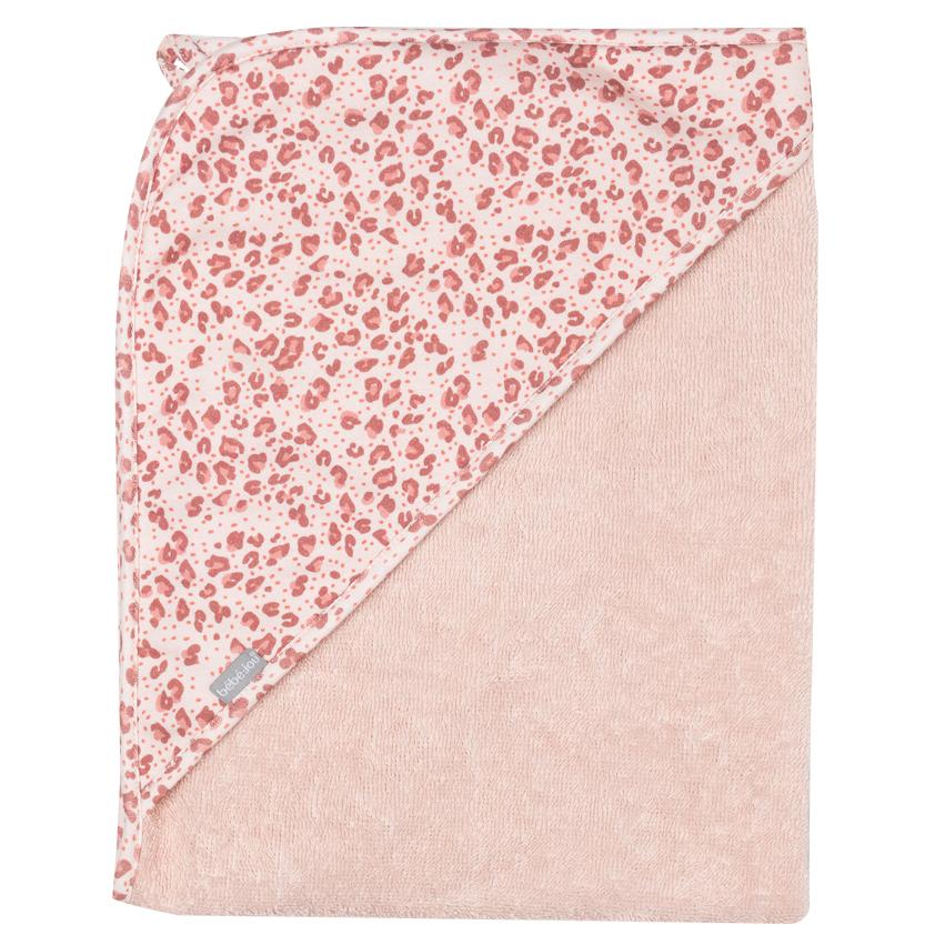 Bebe-Jou Froté uterák s kapucňou Bébé-Jou Leopard Pink