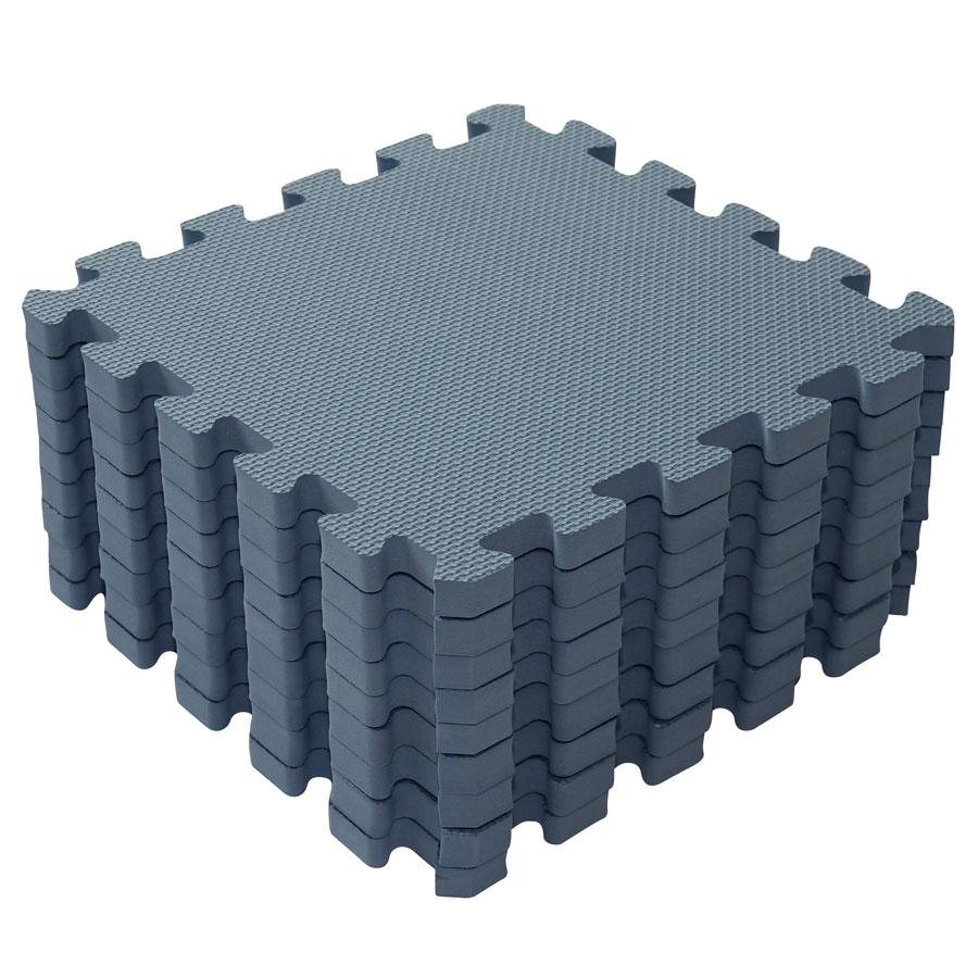 Baby Dan hracia podložka Puzzle Dusty Blue 90 X 90 cm