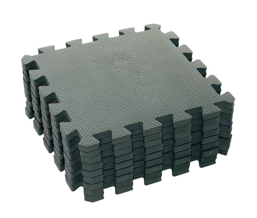 Baby Dan hracia podložka Puzzle Dusty Grey 90 X 90 cm