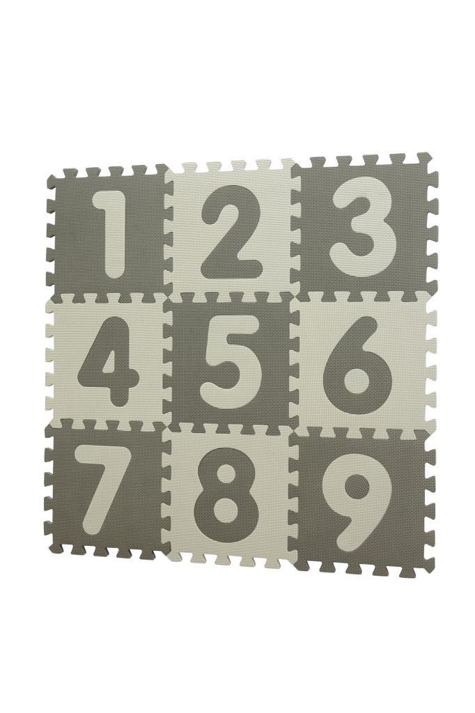 Baby Dan hracia podložka Puzzle Grey s Číslami 90 X 90 cm