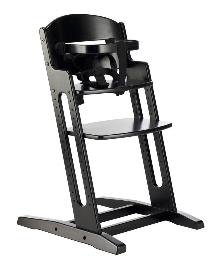 Baby Dan Drevená jedálenská stolička BabyDan DanChair Black