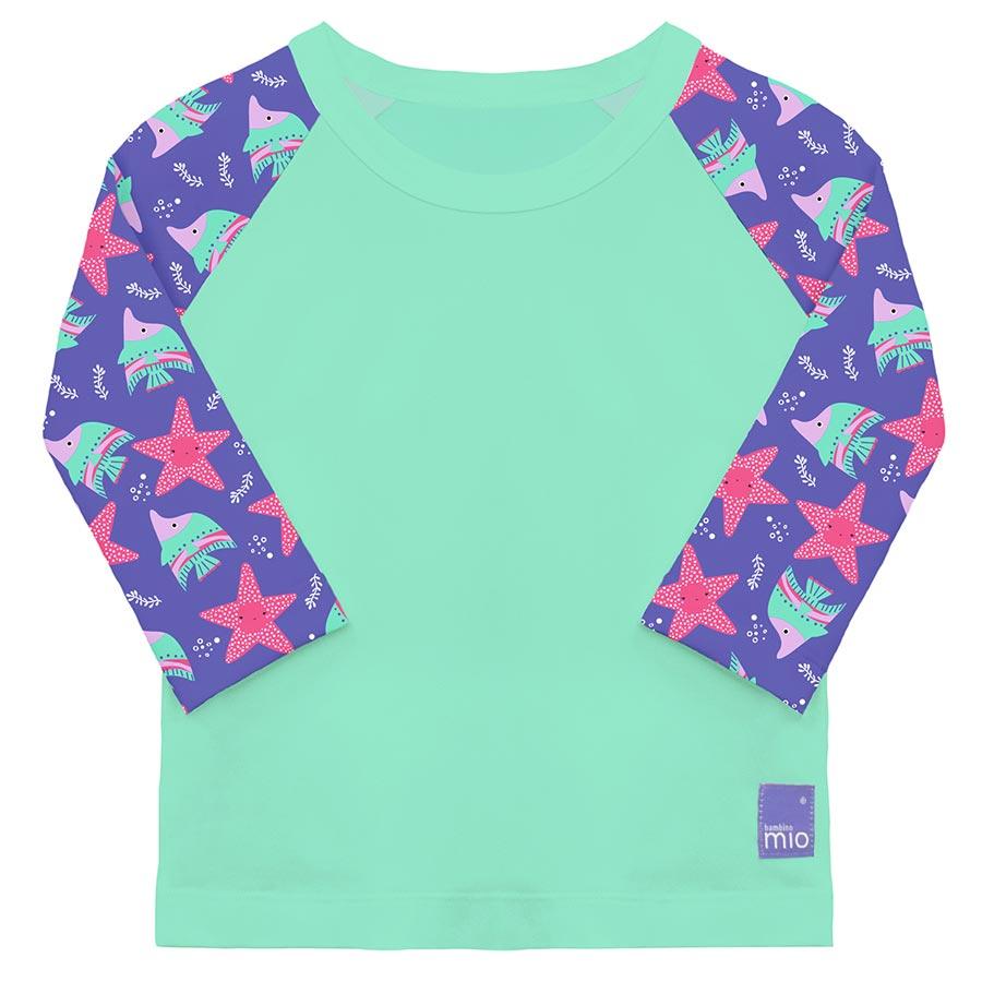 Bambino Mio Detské tričko do vody s rukávom, UV 50+, Violet, veľ. S