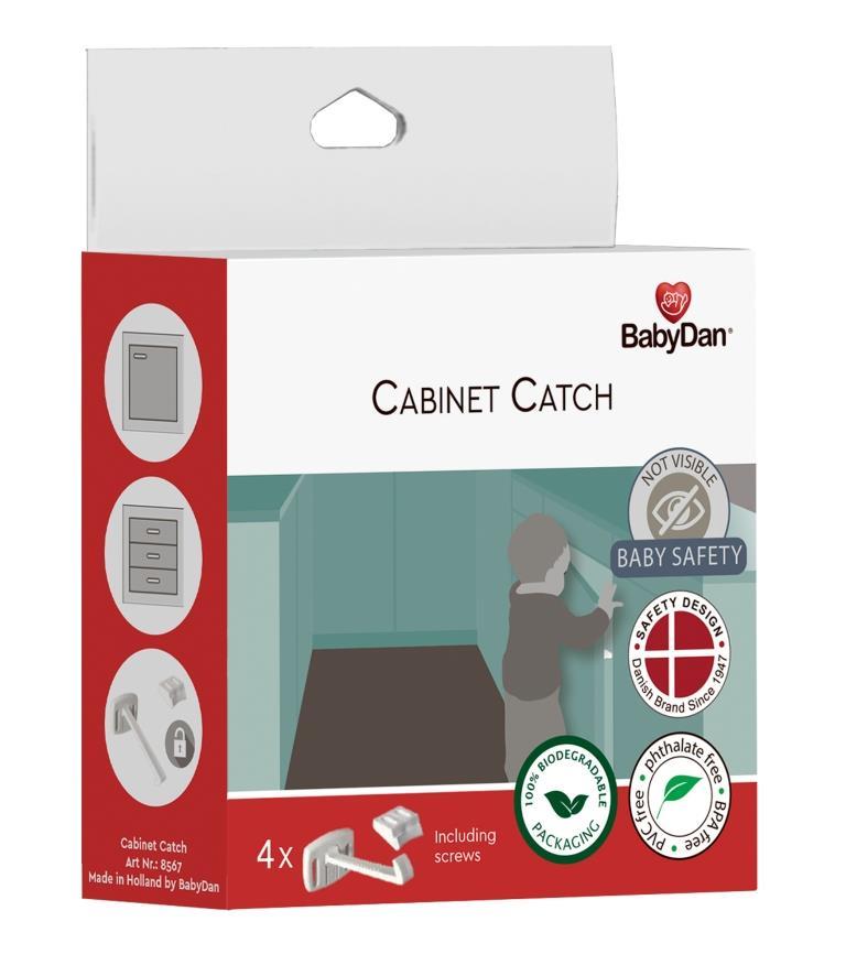 Baby Dan BabyDan poistka pre dvere zásuviek a skriniek 4 ks Cabinet Catch, BIO