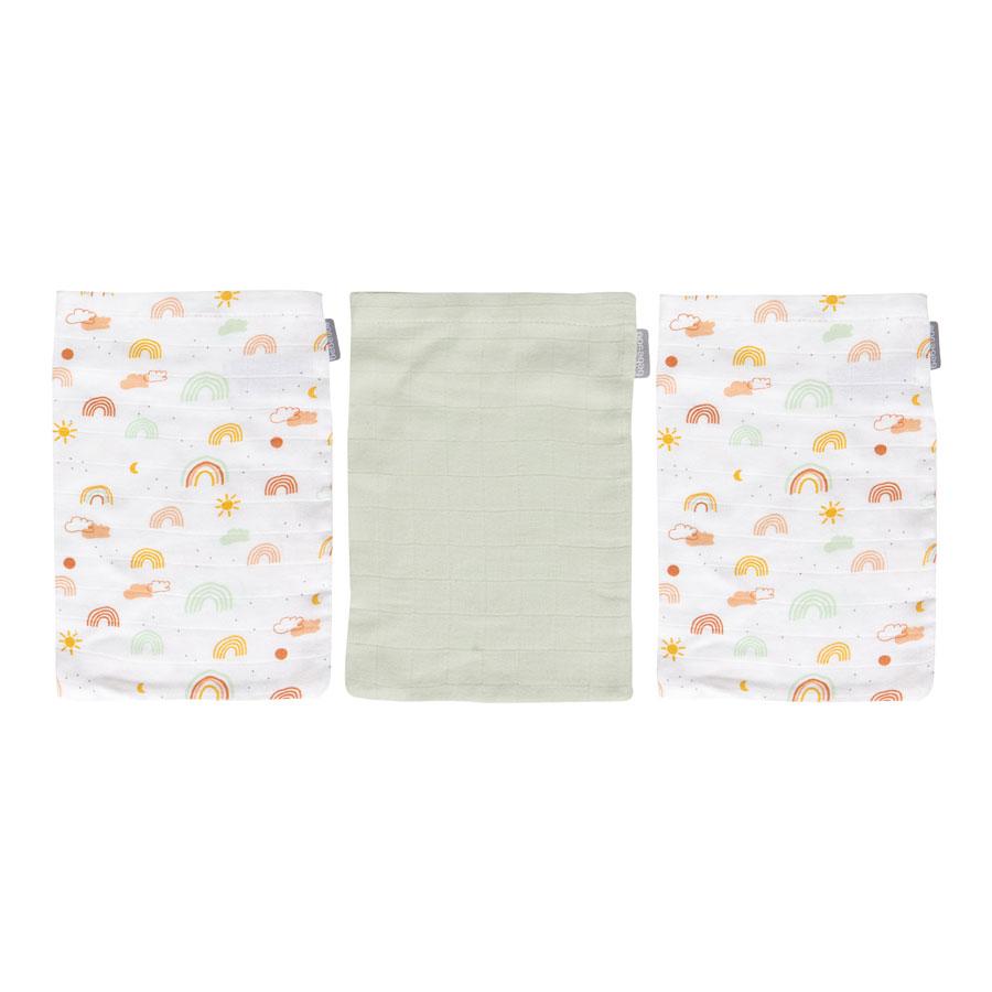 Bebe-Jou Bambusové mušelínové žinky Bébé-Jou Rainbow Sky 3ks